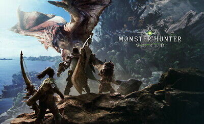 """032 Monster Hunter - Moster Fight Game 39""""x24"""" Poster"""
