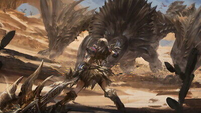 """028 Monster Hunter - Moster Fight Game 42""""x24"""" Poster"""