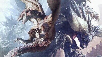 """030 Monster Hunter - Moster Fight Game 42""""x24"""" Poster"""