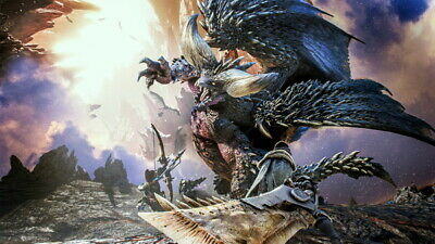 """027 Monster Hunter - Moster Fight Game 42""""x24"""" Poster"""