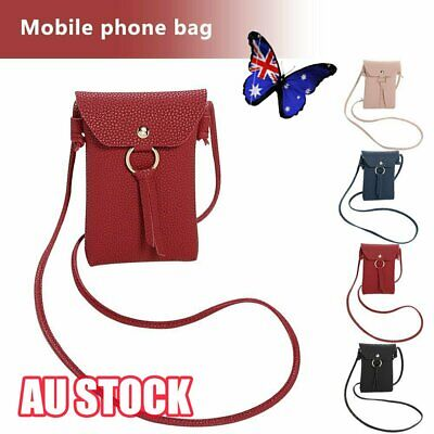 Women PU Leather Mobile Phone Bag Pouch Cross Body Purse Small Shoulder Bag  NW