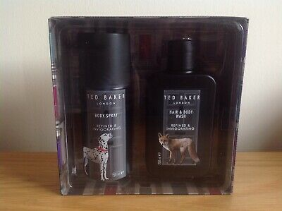 BNIBTed Baker London, Leicester Men's Duo Gift Set Hair / Body Wash & Body Spray