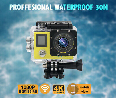 4K/30FTP Full HD WiFi Sports Action Camera Helmet Go Pro Cam DVR Waterproof Lot