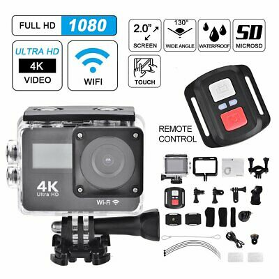 4K Wifi HD Sports Action Camera Cams Dual Touch Screen GO PRO Remote Waterproof