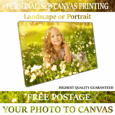 Canvas Print A1 A2 A3 A4 Your Photo Picture on Framed Ready to Hang hanging Kits