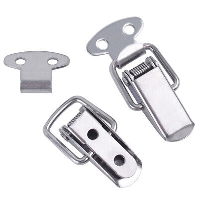 2 Pcs Stainless Steel Chest Cases Cabinet Toggle Latch Catch Clamp Spring Loaded