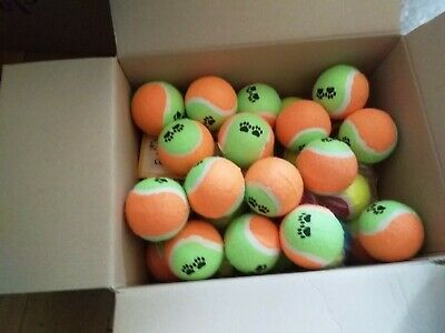 30 USED TENNIS BALLS-VERY GOOD CONDITION-Orange & Green-WASHED AND SANATISED