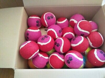 30  TENNIS BALLS-VERY GOOD CONDITION-Red & Pink-New