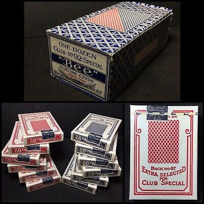 c1970's Cellophane Vintage Playing Cards Unopened Poker High Grade Sealed Decks
