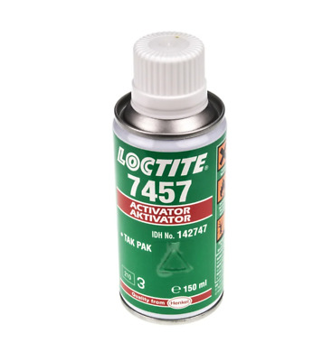 Loctite 7457 Liquid Bottle Adhesive Activator 150 ml for use with Cyanoacrylate
