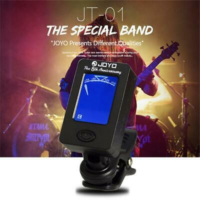 Electric JOYO Clip On Chromatic Tuner Guitar Bass Banjo Ukulele Violin Tuner UK