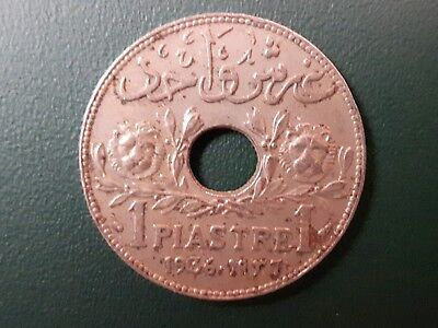 1936 Lebanon 1 Piastre coin - Etat Du Grand Liban - Please see pictures