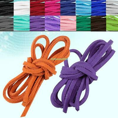 Necklace Leather Cord Soft Suede Thong Lace Flat Rope Thread String For Craft 3