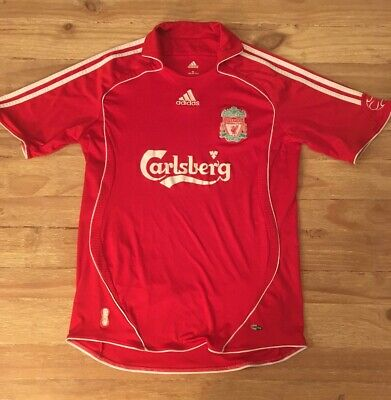 Carlsberg Liverpool Fc England Youth Large Red Futbol Soccer Jersey