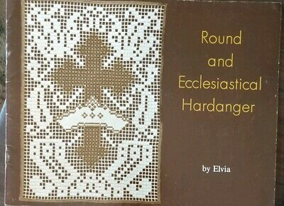 Round and Ecclesiastical Hardanger by Elvia Vintage 1977 Church Altar Designs