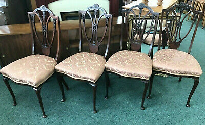 Set of 4 Antique Hepplewhite Style Chairs for Restoration