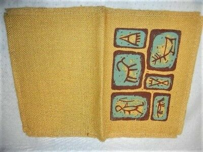 VINTAGE HESSIAN BOOK COVER by CARSCRAFT CAVE DRAWINGS 1960/70s