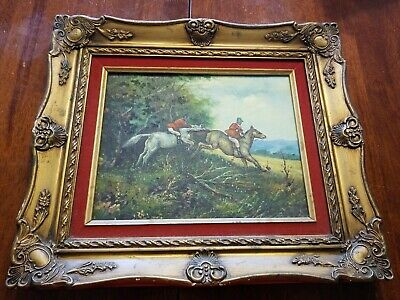 "VINTAGE  15"" X 13"" GOLD GILT PICTURE FRAME ORNATE FINE ART British Hunt Painting"