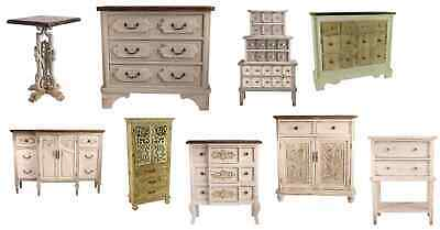 CK Range: Rustic Shabby Chic Wood : Cabinet Table Drawers Bedside Wine Bar