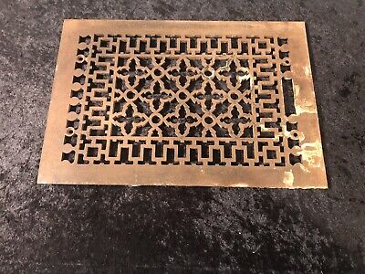 Antique Cast Iron Cold Air Return Floor Grate Victorian