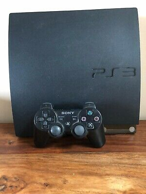 Sony PlayStation 3 Slim 250GB Charcoal Black Console (CECH-2004B) With Games