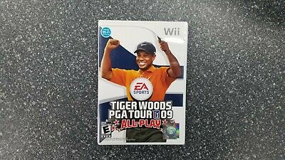 Tiger Woods PGA Tour 09: All-Play (Wii, 2008) CIB Complete in Box