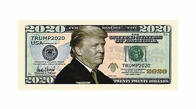 NEW USA Donald Trump 2020 President Re-Election Campaign Dollar Bill Note MAGA