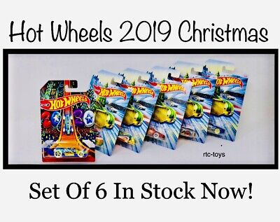 Hot Wheels Christmas 2019 Set Of 6 Cars Holiday Rod Series 2020 New Years