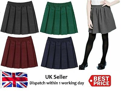 08a751755 Girls school kid School Uniform Box Pleated Elasticated waist Skirt Age 2 -18yrs