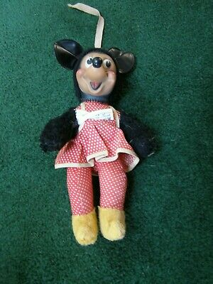 VINTAGE MINNIE Mouse doll  Gund rubber face Sani Foam
