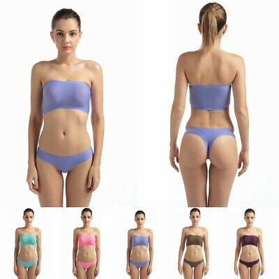 Womens Ladies Sexy G-String Thong Underwear Chest Wrap Bras Knickers Panties