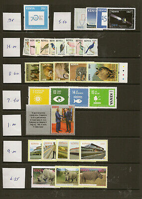 Kenya  2008-18 Mnh New Issues Priced To Sell At £93
