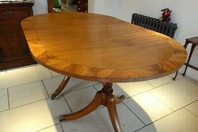 Antique Georgian/Regency Style Extendable Oval Dining Table with 6 Chairs