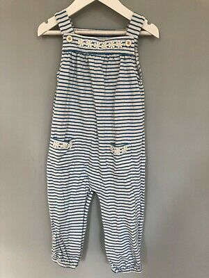 ex Baby Boden Cotton Jersey Daisy Dungarees Romper 3-24 months