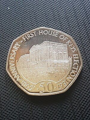 2017 ISLE OF MAN IOM 50p Fifty Pence First House of Keys Election Coin FREEPOST