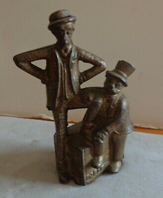 Antique Cast Iron Bank Mutt And Jeff 1912-31 A C Williams Comic Strip Characters