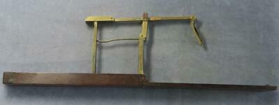 Brass Guinea folding Balance in wood box by Anthony Wilkinson Ormskirk 1790's