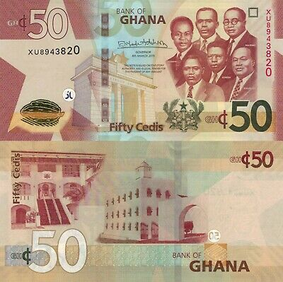 Ghana 50 Cedis (04.03.2019) - Big Six/Gov't Buildings/p42-New UNC