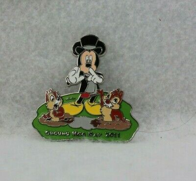Disney Parks Pin LE 1000 2011 Groundhog Day Mickey Mouse Chip Dale