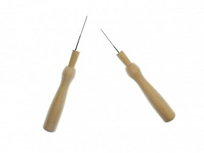 2x Felt Needles Miniblings Material Needles Crafting Wood Wooden Handle Tool DIY