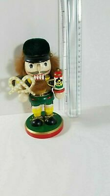 Wood Nutcracker Hand Painted with Beer Stein and Pretzel 6 inches