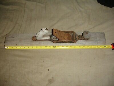 Vintage Tool Wooden Jointer Plane Thick Iron 24 inch wood for working craft
