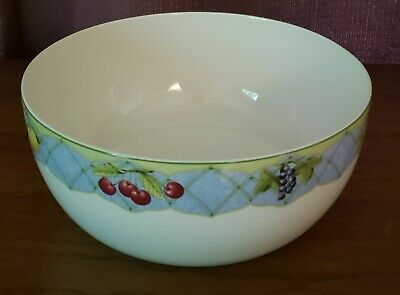 "Mikasa Optima Fine China Y4001 ""Fruit Rapture"" Vegetable Serving Bowl 9"" Euc"