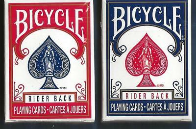 2 DECKS Bicycle mini decks Rider Back playing cards