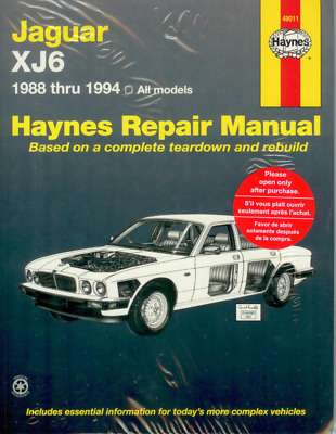 88-94 Jaguar XJ6 Vanden Plas Sovereign Repair Manual Owners Book Shop Service
