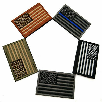 5x US Flag Tactical Patch American USA Hook & Loop Army Military Uniform Patches