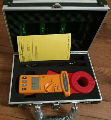 Fluke 1630 Earth Ground Clamp Meter, Excellent, Case