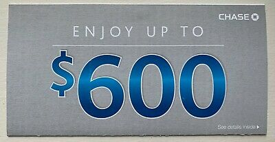 Get NOW! CHASE $600 Promotion: $300 Checking + $200 Savings + $100 Exp AUG 06