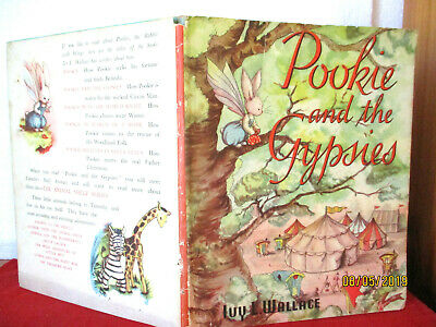 POOKIE AND THE GYPSIES 1955 HCDJ  Ivy L Wallace  vintage collectable with jacket