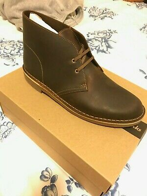24ecf2d00ed CLARKS BUSHACRE BEESWAX Brown Leather Chukka Boot Men's Size 12 M ...